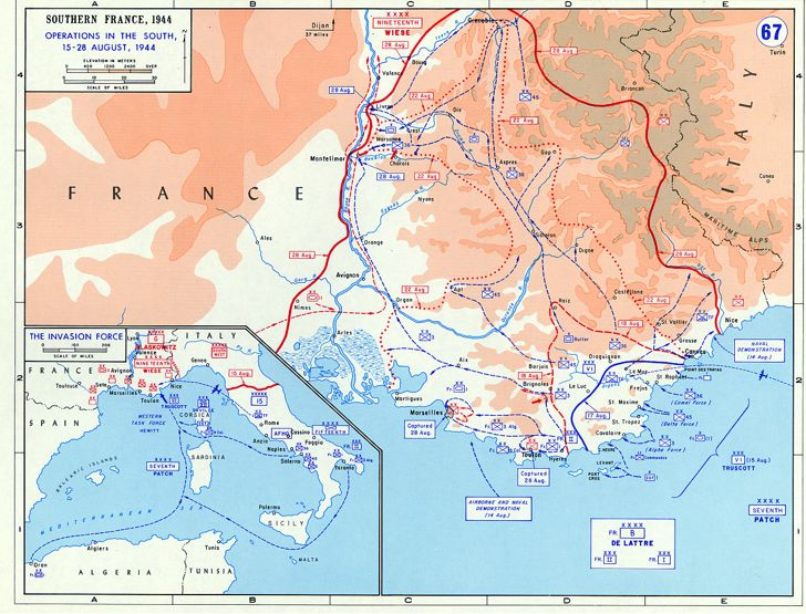 Operation Dragoon Map